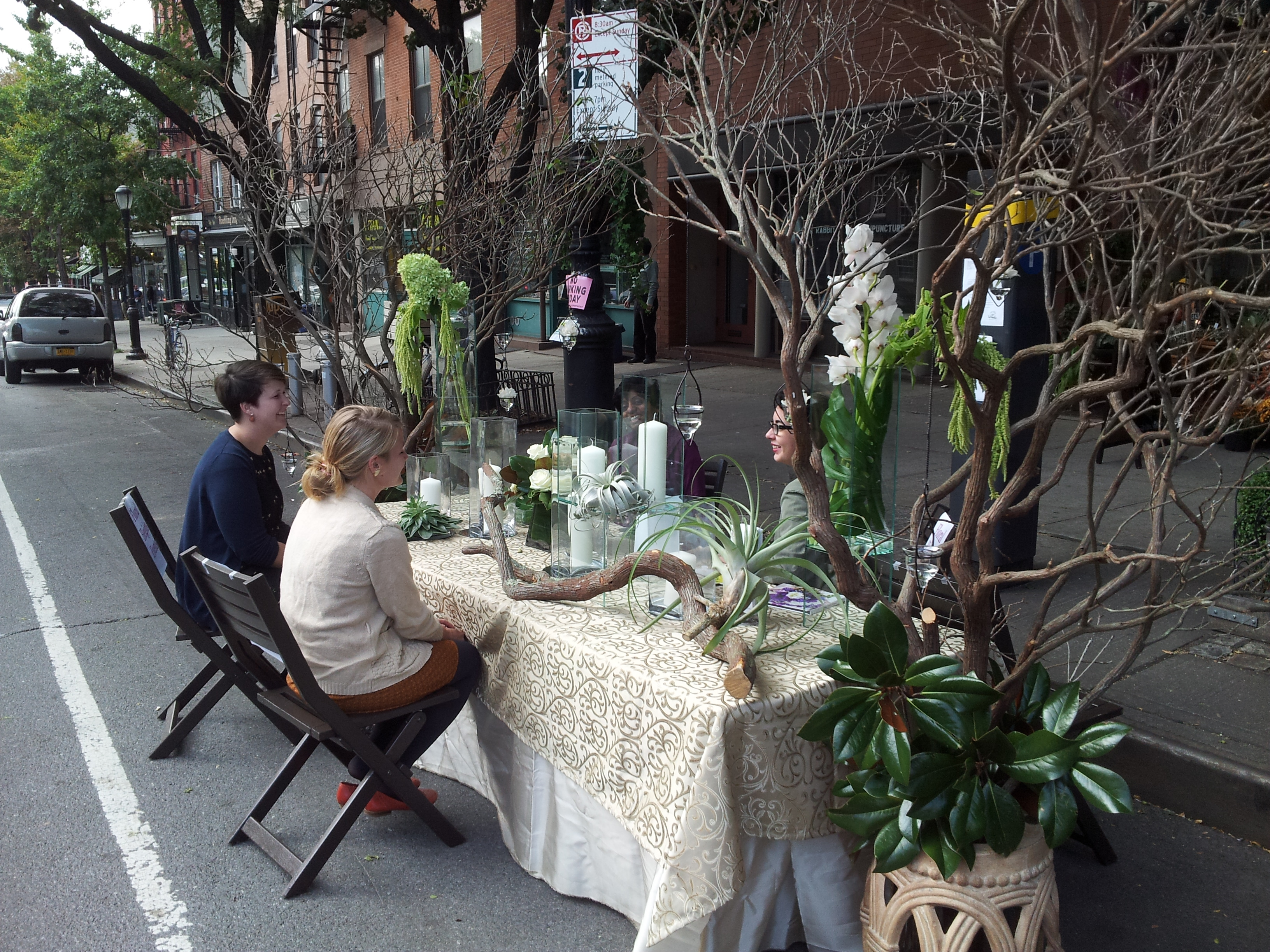 Floral Heights at 107 Atlantic Ave Brooklyn Heights with a full and ornate table setting!